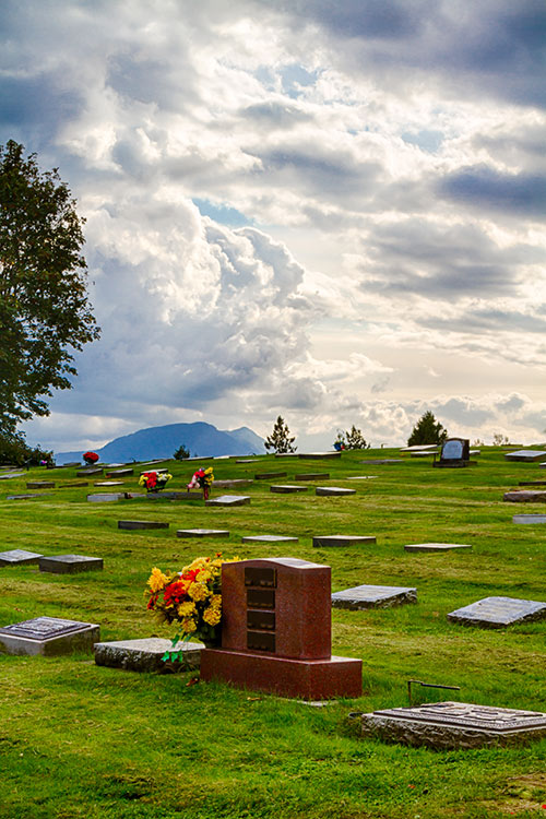 Burial plot at Chilliwack Cemetery